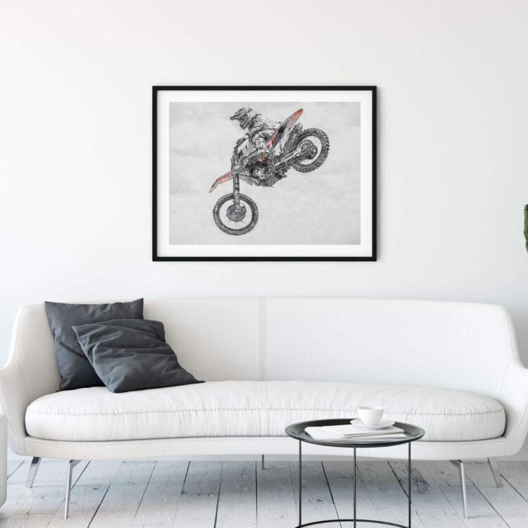 MX Motocross Air Time Poster Noanahiko 0177