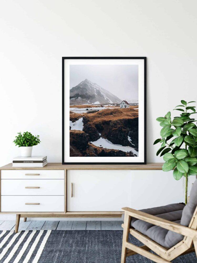 Nordic House and Mountains noanahiko art print scaled 1