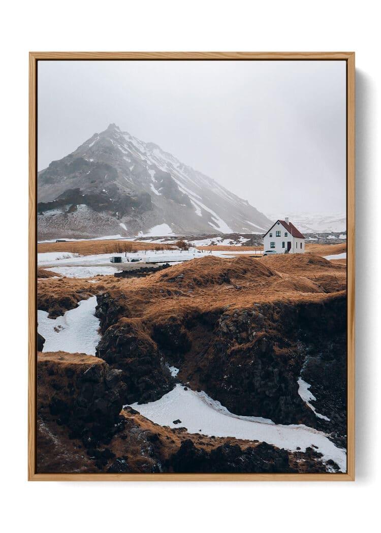 Nordic House and Mountains noanahiko art print web