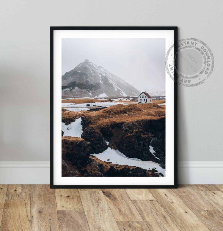 Nordic House and Mountains noanahiko printable