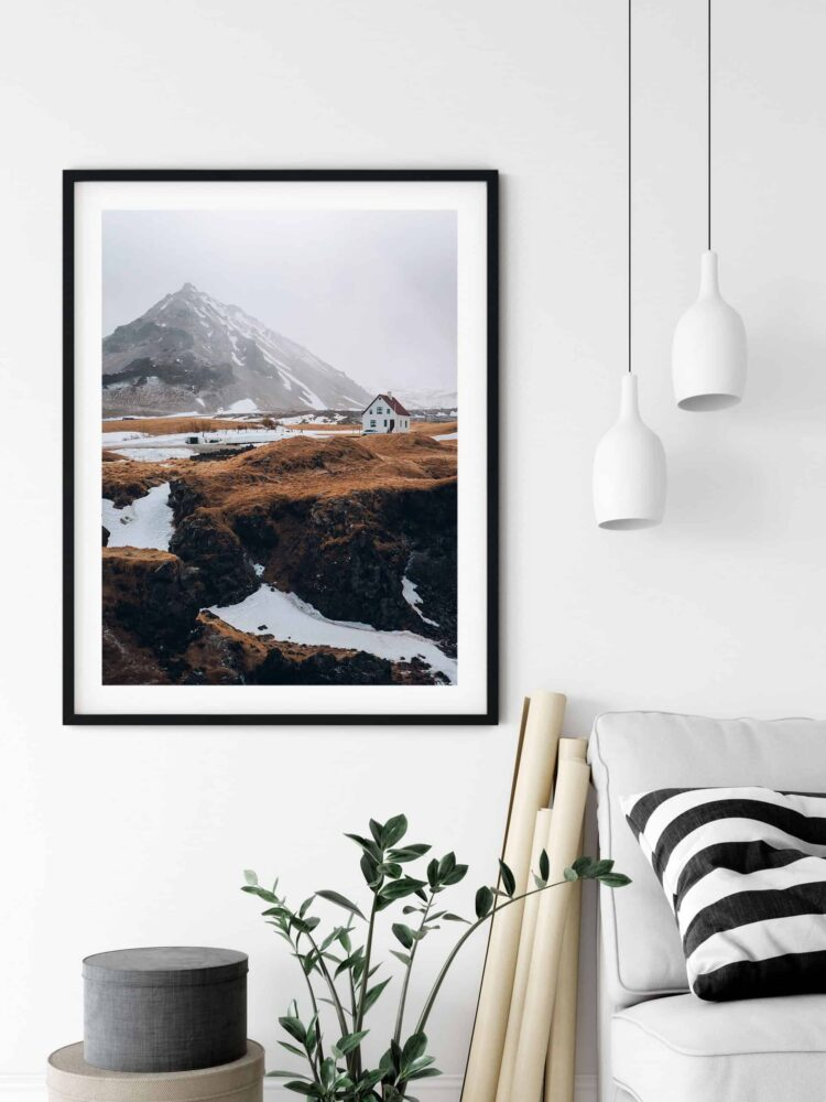 Nordic House and Mountains noanahiko wall art scaled 1