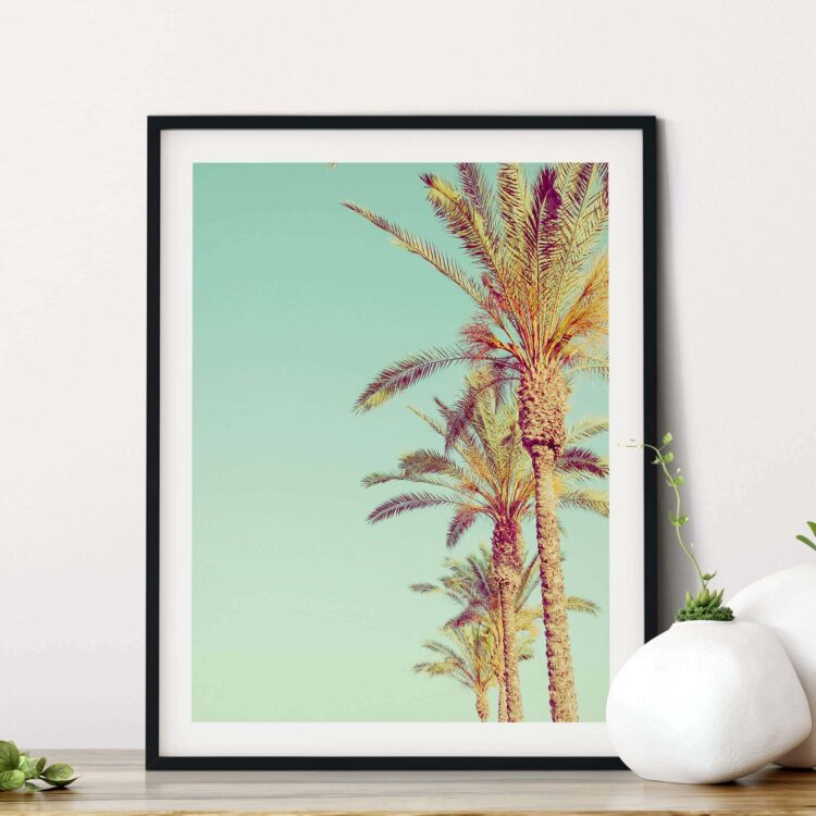 Palm Trees poster print Noanahiko 0142