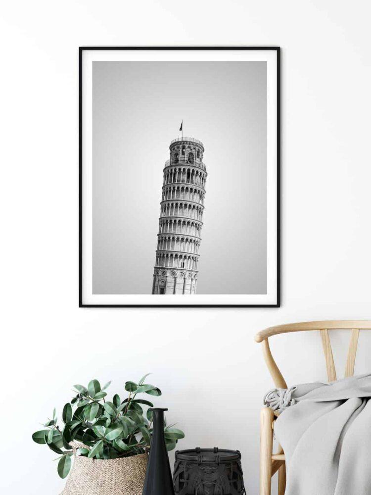 Pisa Tower poster wall art noanahiko home decor