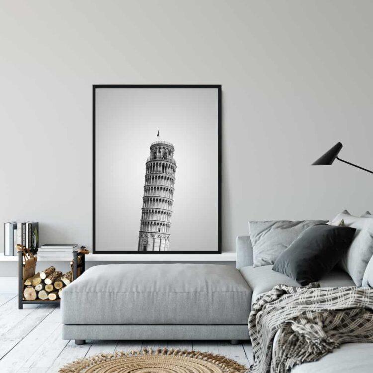 Pisa Tower poster wall art noanahiko living room