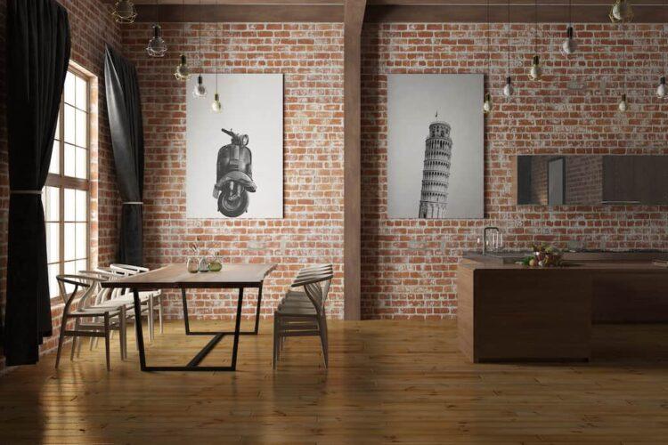 Pisa Tower poster wall art noanahiko room