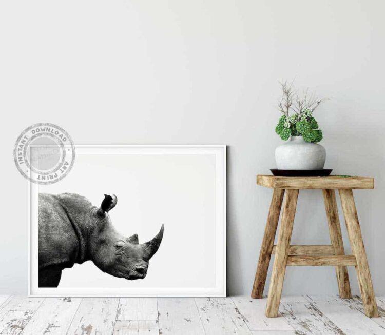 Rhinoceros African Poster noanahiko print wall art