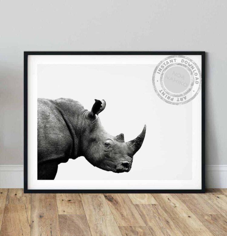 Rhinoceros African Poster noanahiko wall art printable photo
