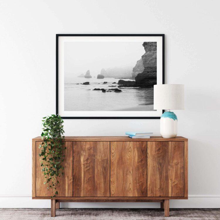 Rocks on the ocean BW Noanahiko Printable Wall Art 0147 02