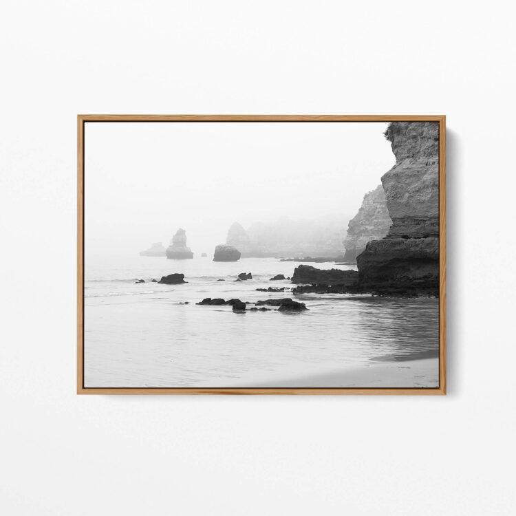 Rocks on the ocean BW Poster photography Noanahiko 0147 02