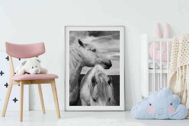 Scottish Horses Poster noanahiko wall art print photo nursey
