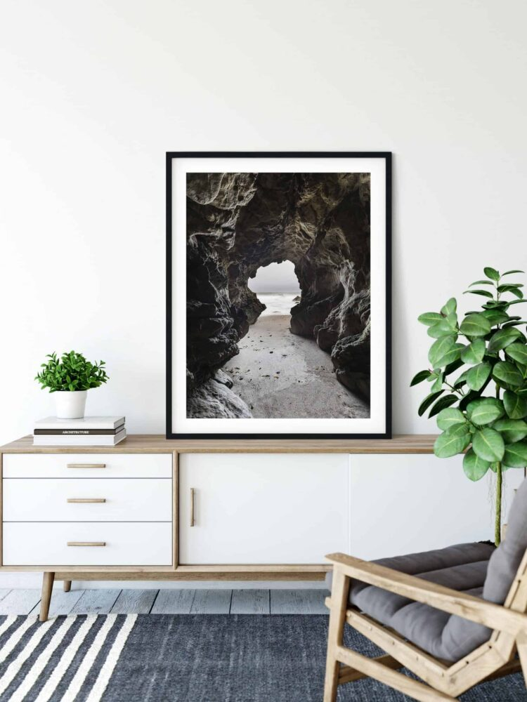 Sea Cave Malibu California Poster noanahiko art print scaled 1