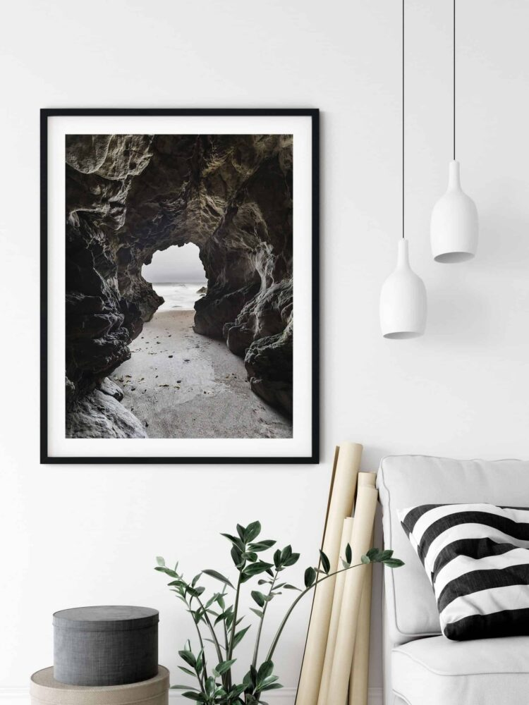 Sea Cave Malibu California Poster noanahiko photography scaled 1