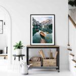 Seekofel mountain Dolomites Poster Noanahiko Art Print 0093
