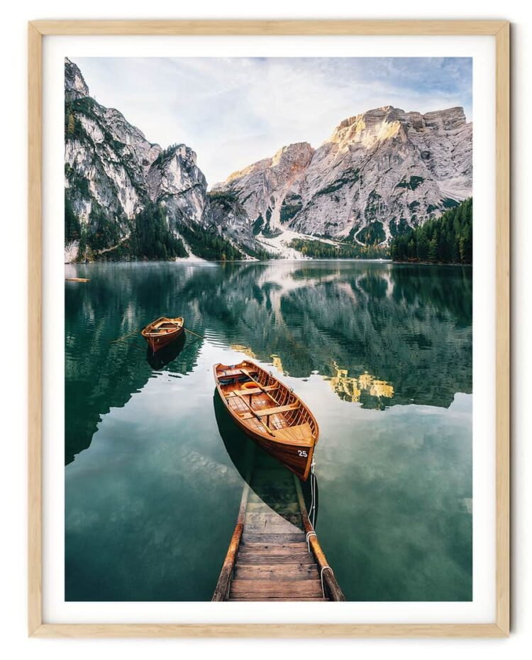 Seekofel mountain Dolomites Poster Noanahiko Art Print download 0093