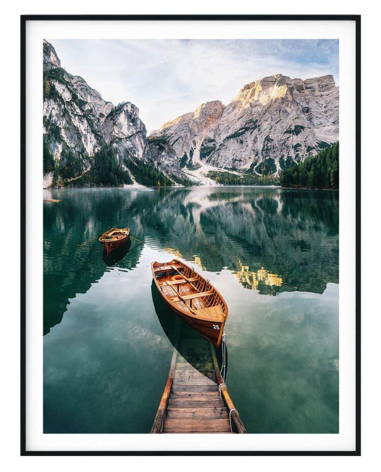 Seekofel mountain Dolomites Poster Noanahiko Print 0093