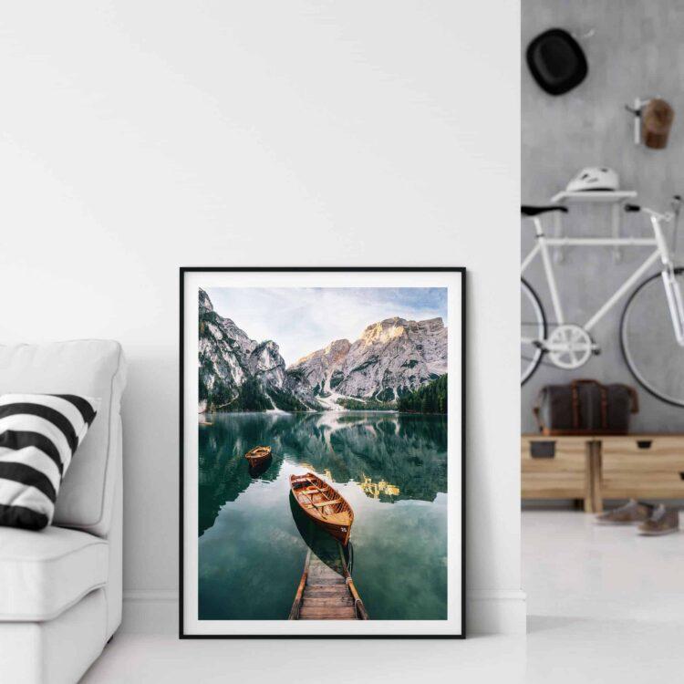 Seekofel mountain Dolomites Poster Noanahiko wall Art Print 0093