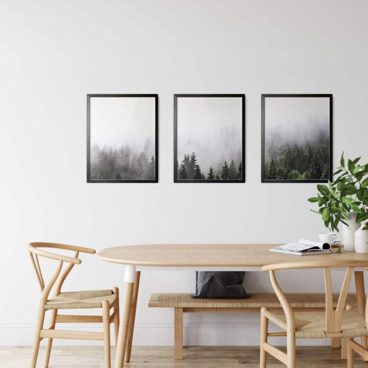 Set 3 Mountain Landscape Noanahiko Art Print 0169