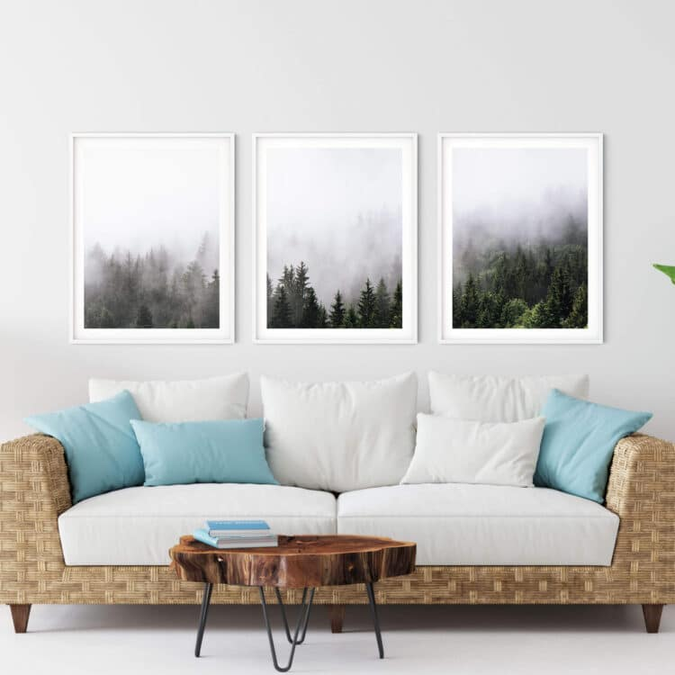 Set 3 Mountain Landscape Noanahiko Printable Wall Art 0169