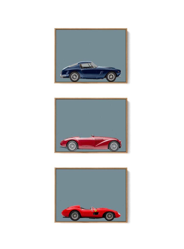 Set of 3 Prints Ferrari Sports Car Poster W noanahiko 0162