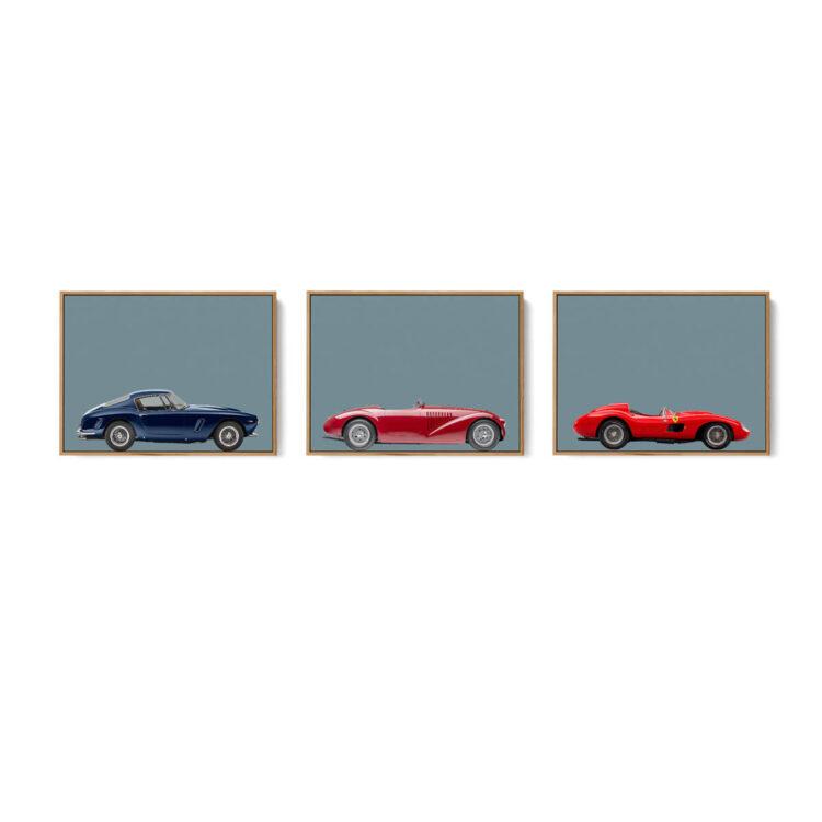 Set of 3 Prints Ferrari Sports Car noanahiko w 0162 1