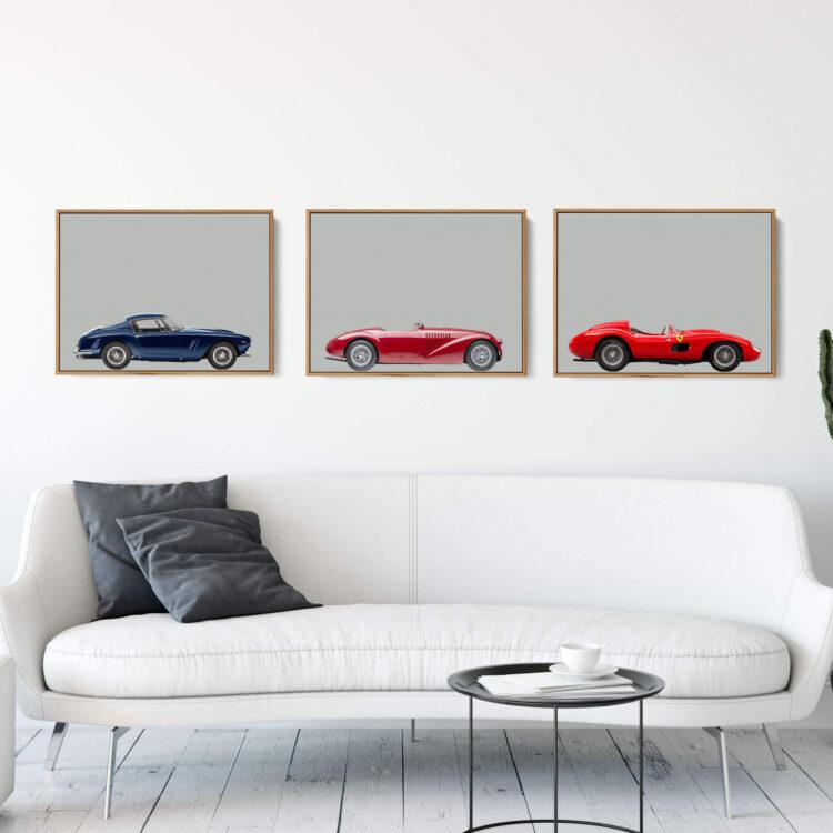 Set of 3 Prints Ferrari Sports Car poster noanahiko 0162 1