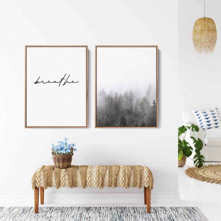 Set two Mountains Landscape Quote Noanahiko art 0171