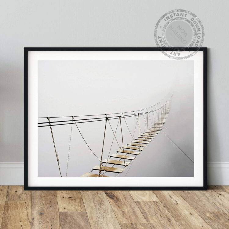 Suspension Bridge Fog Noanahiko Art Print 0181