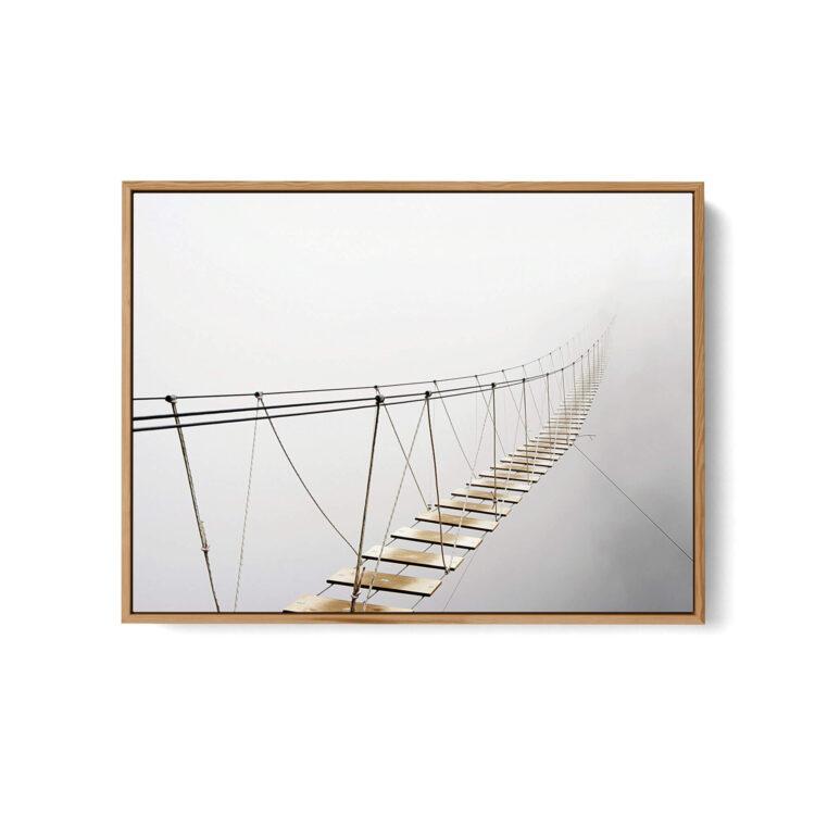 Suspension Bridge Fog Noanahiko Photo Print Web 0181