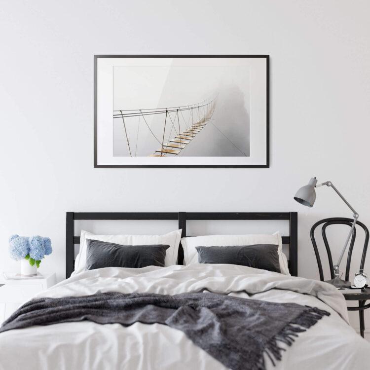 Suspension Bridge Fog Noanahiko Printable Wall Art 0181