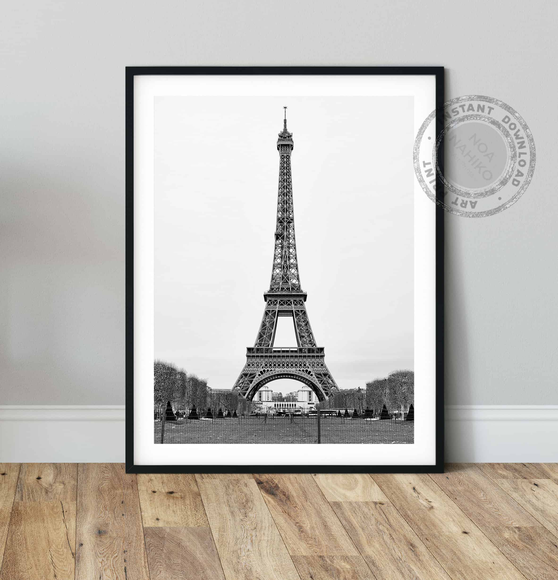 Printable Poster -Digital Download Black and White Paris Print Paris Photography Print Paris Wall Art