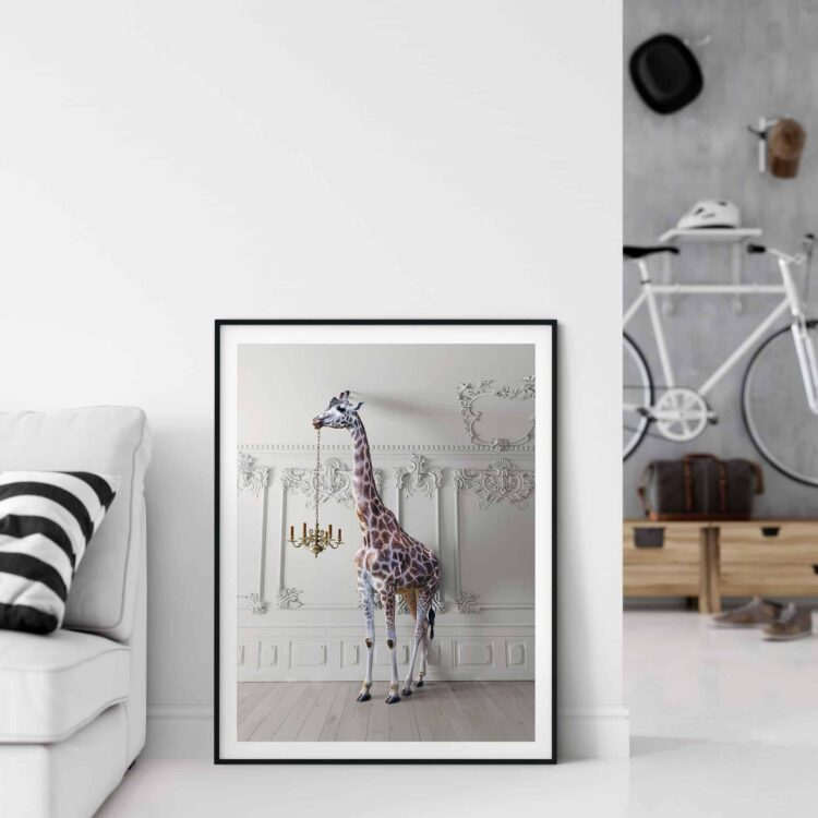 The Giraffe with a Chandelier Poster photography Noanahiko 0091
