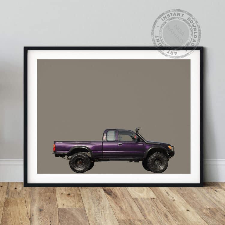 Toyota Tacoma Off road Side Noanahiko Art Print 00179