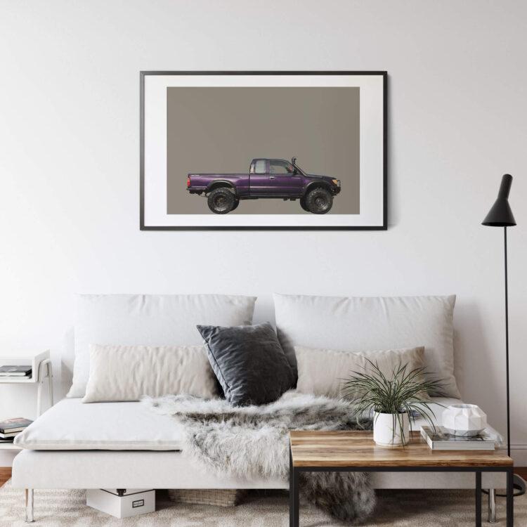 Toyota Tacoma Off road Side Noanahiko Printable Wall Art 00179