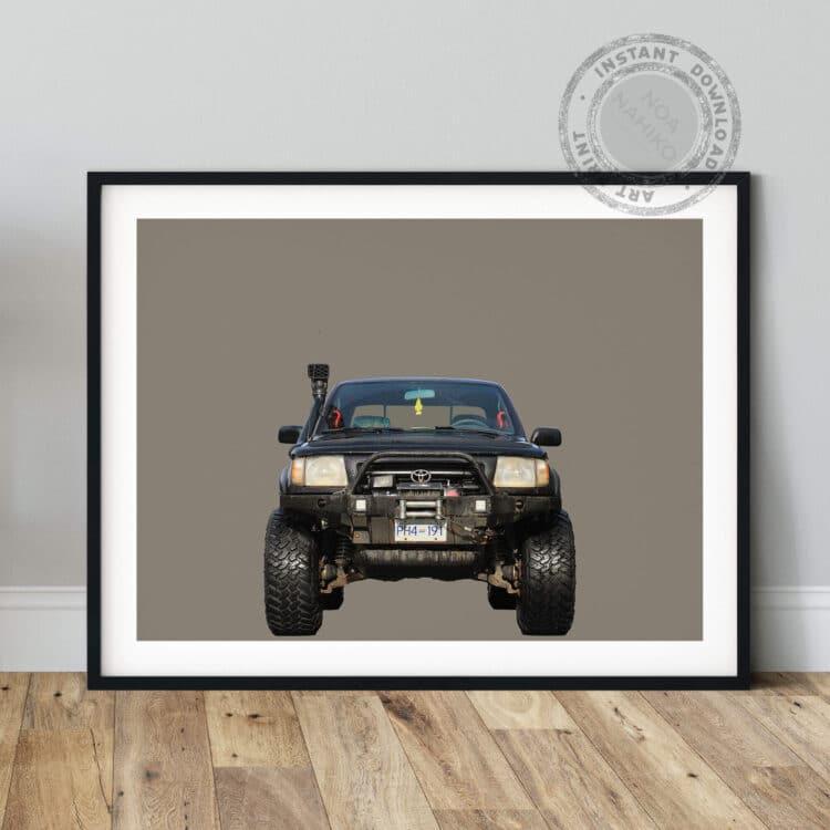 Toyota Tacoma Off road front Noanahiko Art Print 0178