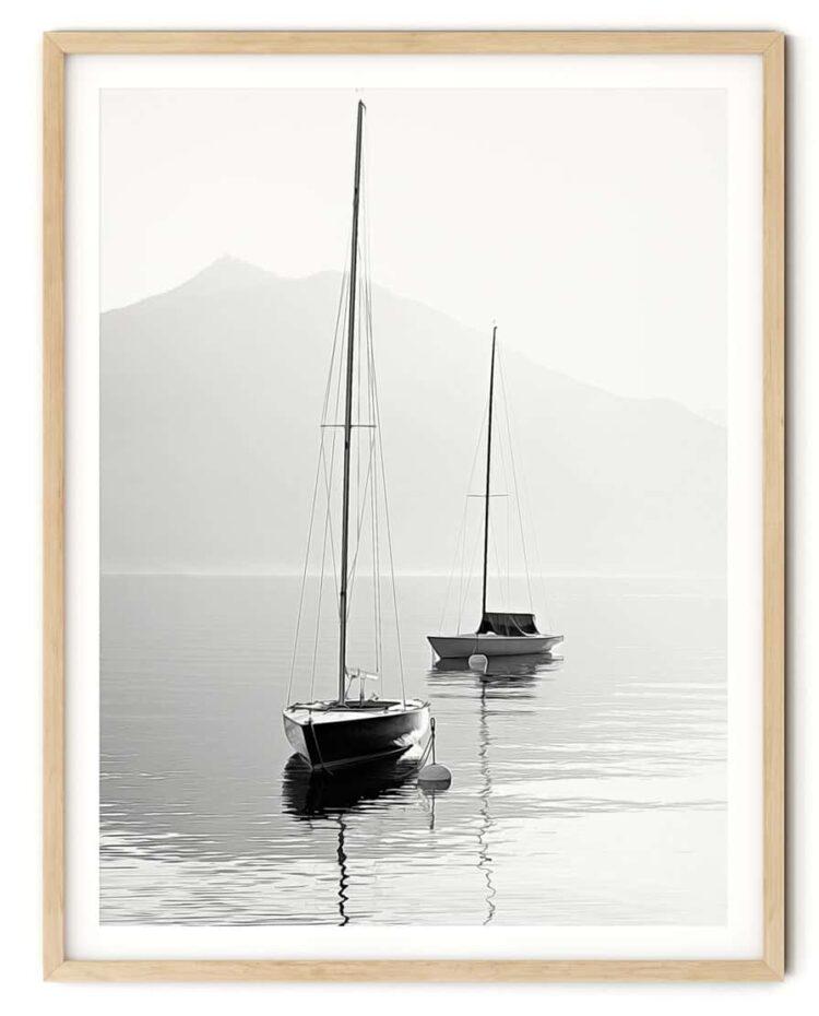 Two SailBoats Poster Noanahiko Art Print 0089