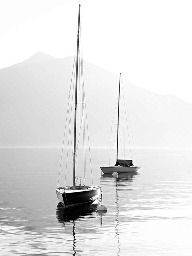 Two SailBoats Poster Noanahiko Art Print scaled 1