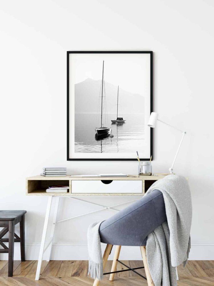 Two SailBoats Poster download Noanahiko Art Print 0089