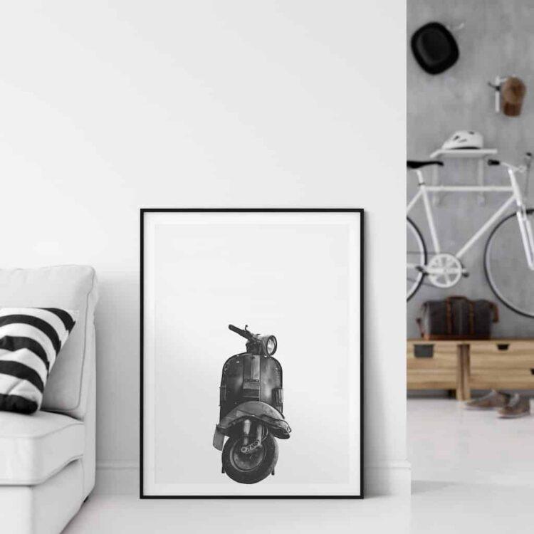 Vespa Classic motorbike poster wall art home decor noanahiko
