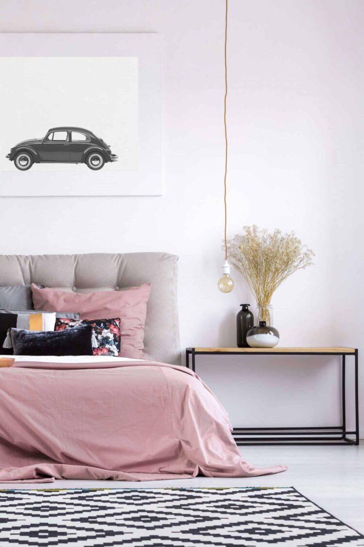 Volkswagen Beetle Car Poster noanahiko art print scaled 1