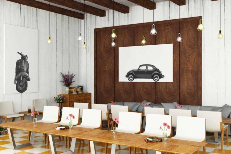 Volkswagen Beetle Car Poster noanahiko decor photpo scaled 1