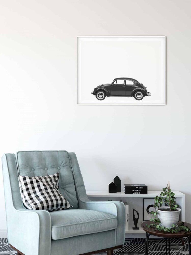 Volkswagen Beetle Car Poster noanahiko download scaled 1