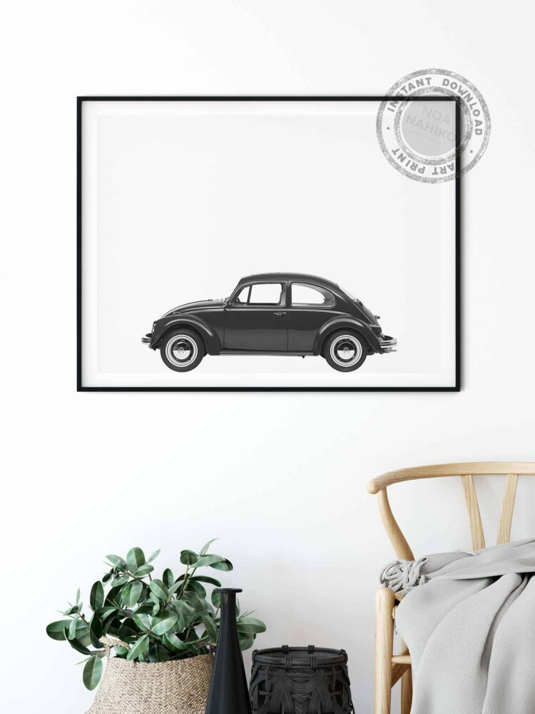 Volkswagen Beetle Car Poster noanahiko home decor
