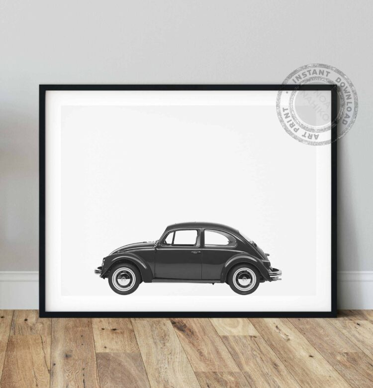 Volkswagen Beetle Car Poster noanahiko photo printable
