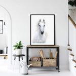 White Arabian Horse Poster Noanahiko Art printable 0090