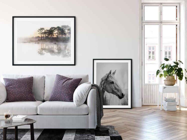 White Horse Poster noanahiko printable Art