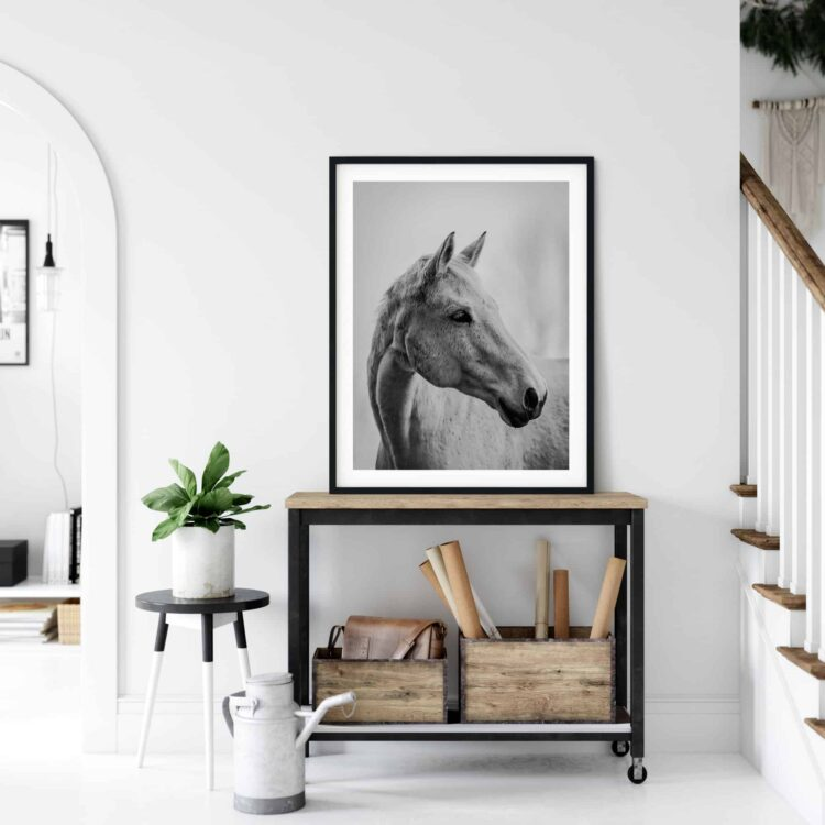 White Horse Poster noanahiko printable wall art