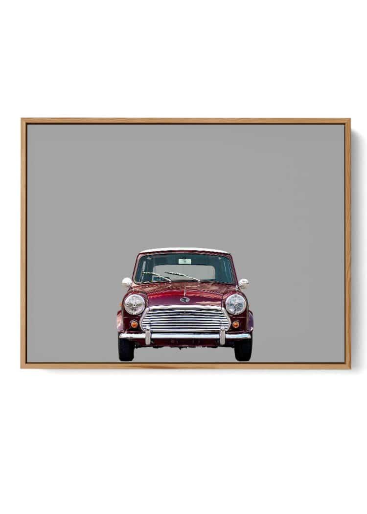 Austin Mini Car Front Poster