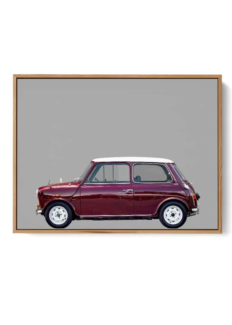 Austin Mini Car Side Poster