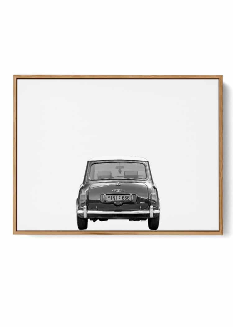 Austin Mini Classic Car Poster Back