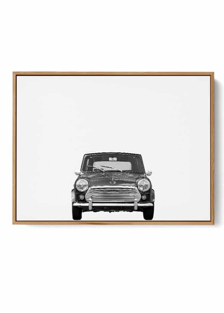 Austin Mini Classic Car Poster Front